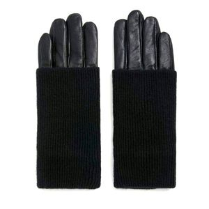 Real Leather Foldover Gloves. Size Medium.